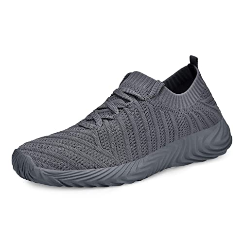 ZOCAVIA Mens Sneakers Ultra Lightweight Breathable Mesh Street Sport Walking Running Gym Shoes