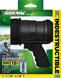 Rayovac Sportsman Virtually Indestructible 500 Lumen 6AA LED Spotlight with Batteries