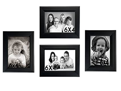 Buy Umber Classic Set Of 4 Collage Photo Frames (4-4X6 Inch) Black ...