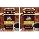 Teeccino - Hazelnut 75% Organic Herbal Coffee Medium Roast Caffeine Free - 10 Tee Bags (Pack of 2)