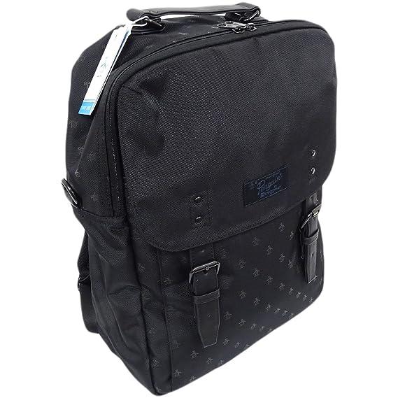 7b82bd8007 Original Penguin Mens Ruck Sack Bag New Black Black One Size  Amazon.co.uk   Clothing