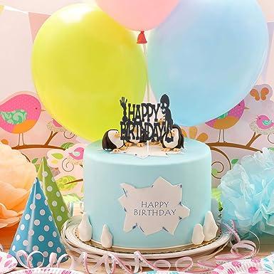 Decoración para tartas de feliz cumpleaños, con purpurina ...