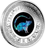 2020 AU Australian Lunar Opal PowerCoin YEAR OF THE MOUSE Australian Opal 1 Oz Silver Coin 1$ Australia 2020 Proof