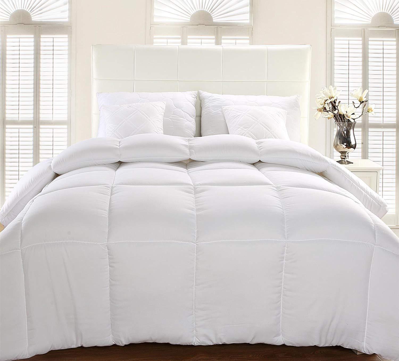 Blanc, 135 x 200 cm hypoallerg/énique Utopia Bedding Chaude Couette Couette en Microfibre