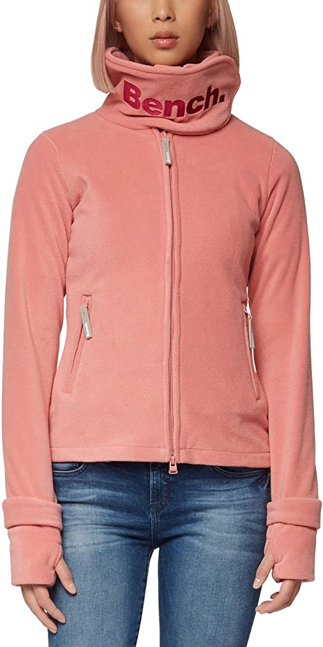 Bench Damen Sweatshirt Fleecejacke FUNNELNECK