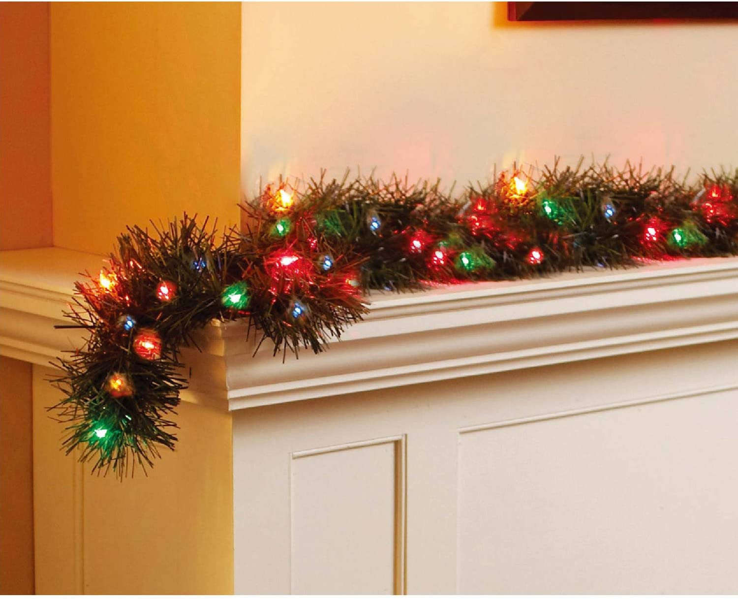 Holiday Time 18' Multi Color Pre-Lit Garland