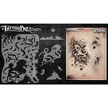 Tatuaje Pro plantillas de la serie 1 - Octopus: Amazon.es: Hogar