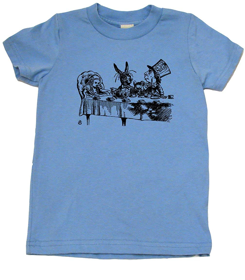 Tea Party Alice in Wonderland Toddler Clothes Boy Or Girl T-Shirts Cute Kids