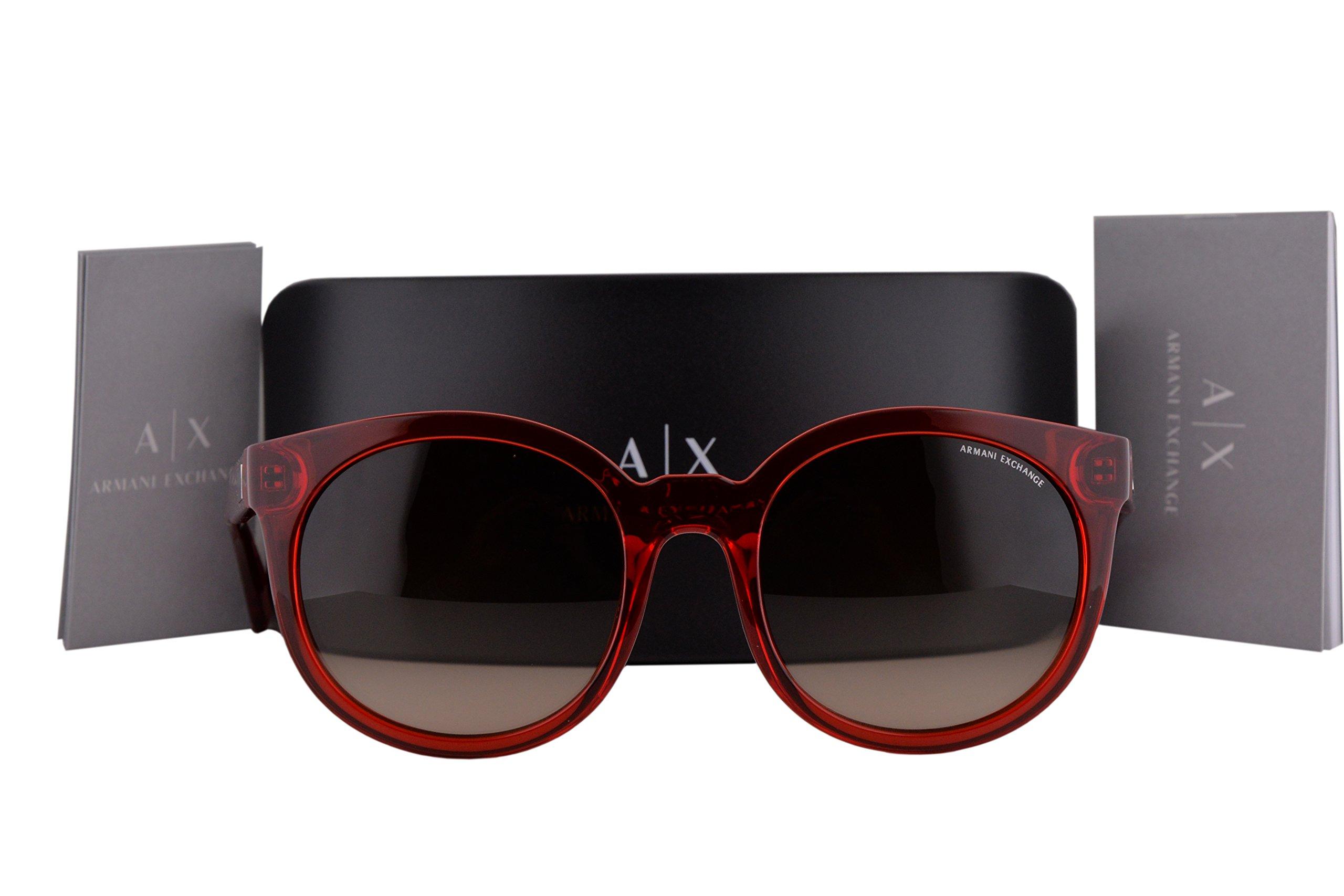 Armani Exchange AX4057SF Sunglasses Transparent Watermelon w/Brown Gradient Lens 820913 AX 4057S
