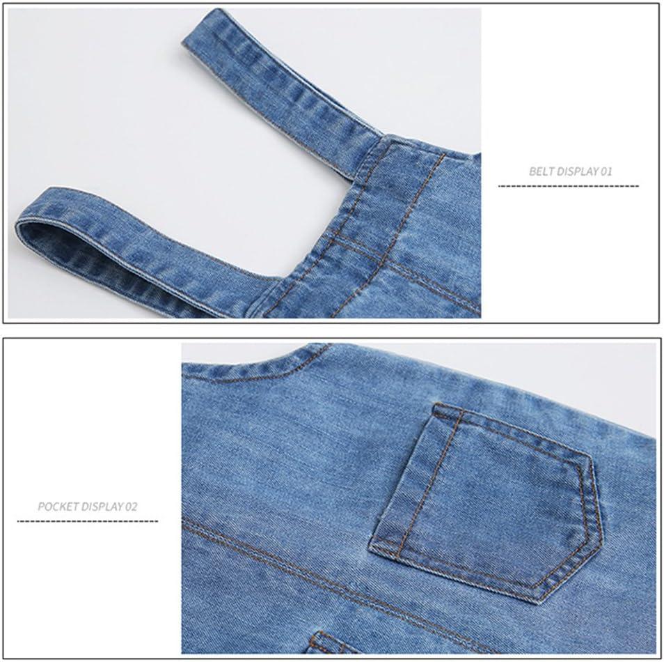 Beb/é Peto con Pernera Corta Pantalones de Peto Vaqueros Ni/ños Ni/ñas Overalls Pantal/ón Ajustable 9-12 Meses