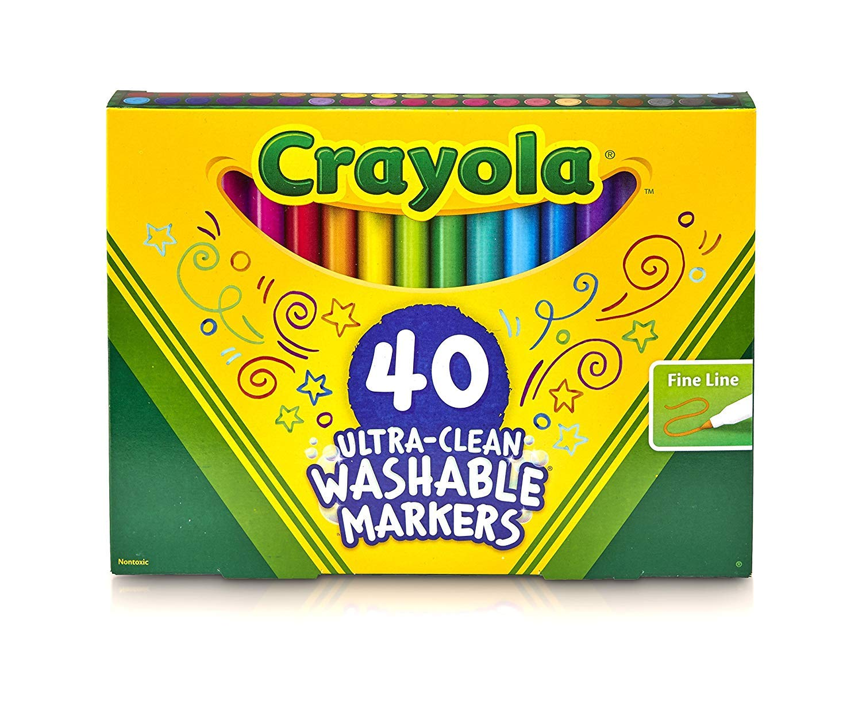 Crayola 12 Ct Fine Washable Markers Binney /& Smith 58-7813