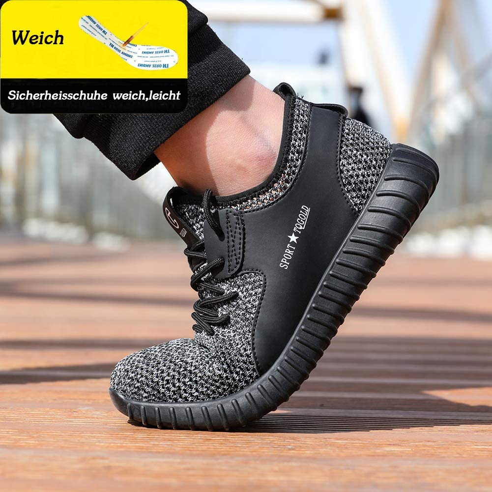 TQGOLD Chaussure de Securit/é Homme Femmes S3 L/ég/ères Chaussures de Travail avec Embout de Protection en Acier