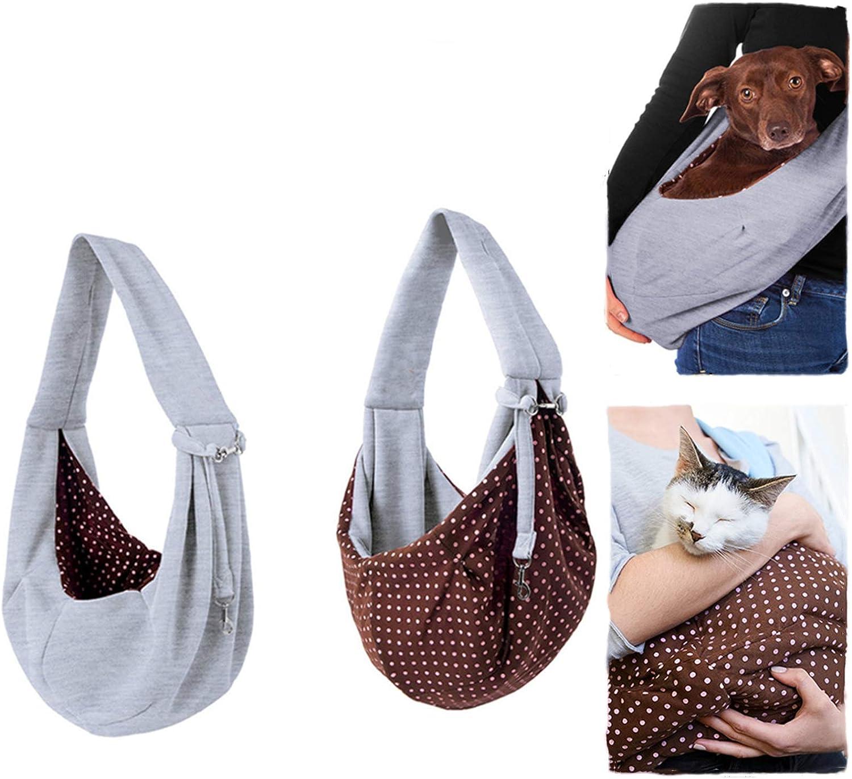 BUYGOO Bolso de Transporte para Perros Pequeños, Gatos, Cómodo y Duradero Bolso de Hombro para Mascotas Bandoleras Porta Perros