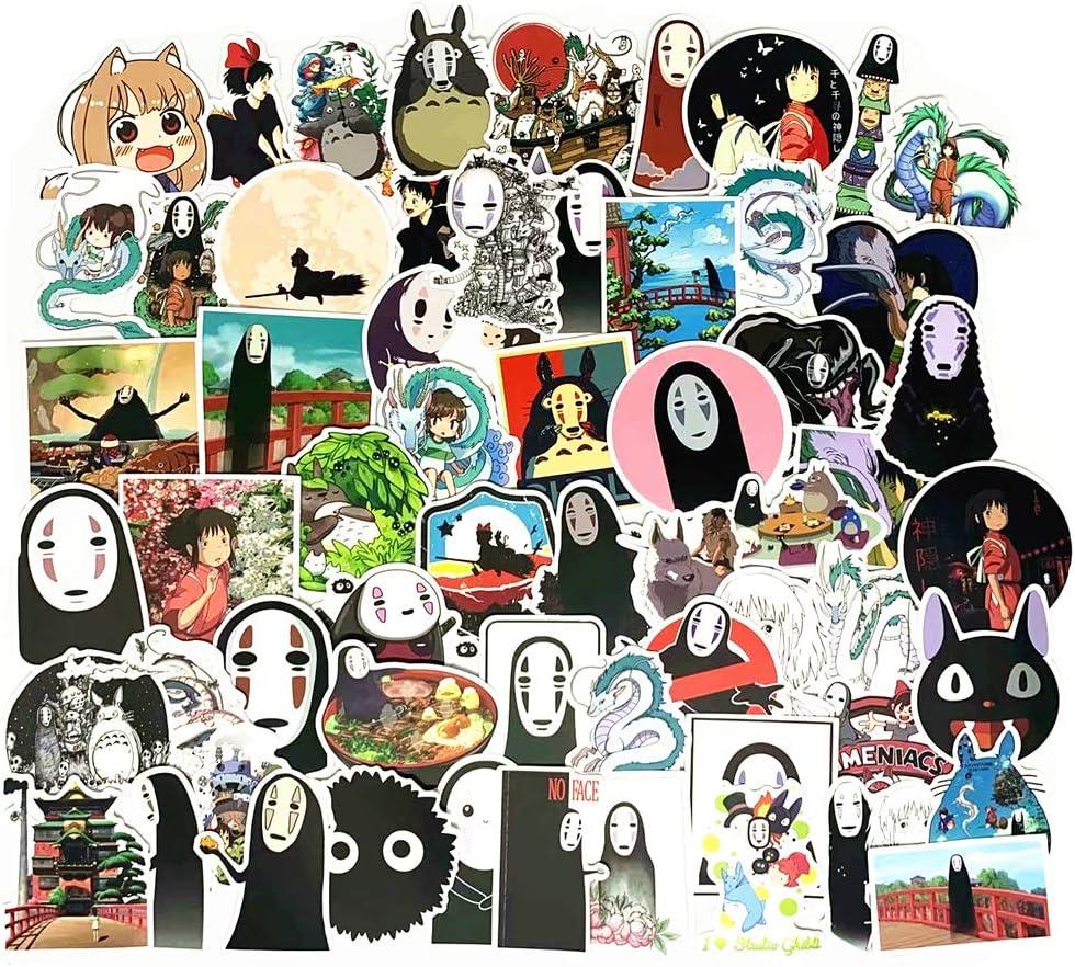 150PCS Miyazaki Hayao Stickers,Totoro Stickers for Laptop, Notebooks, Car, Bicycle, Skateboards, Luggage Decoration, Hayao Miyazaki Collection
