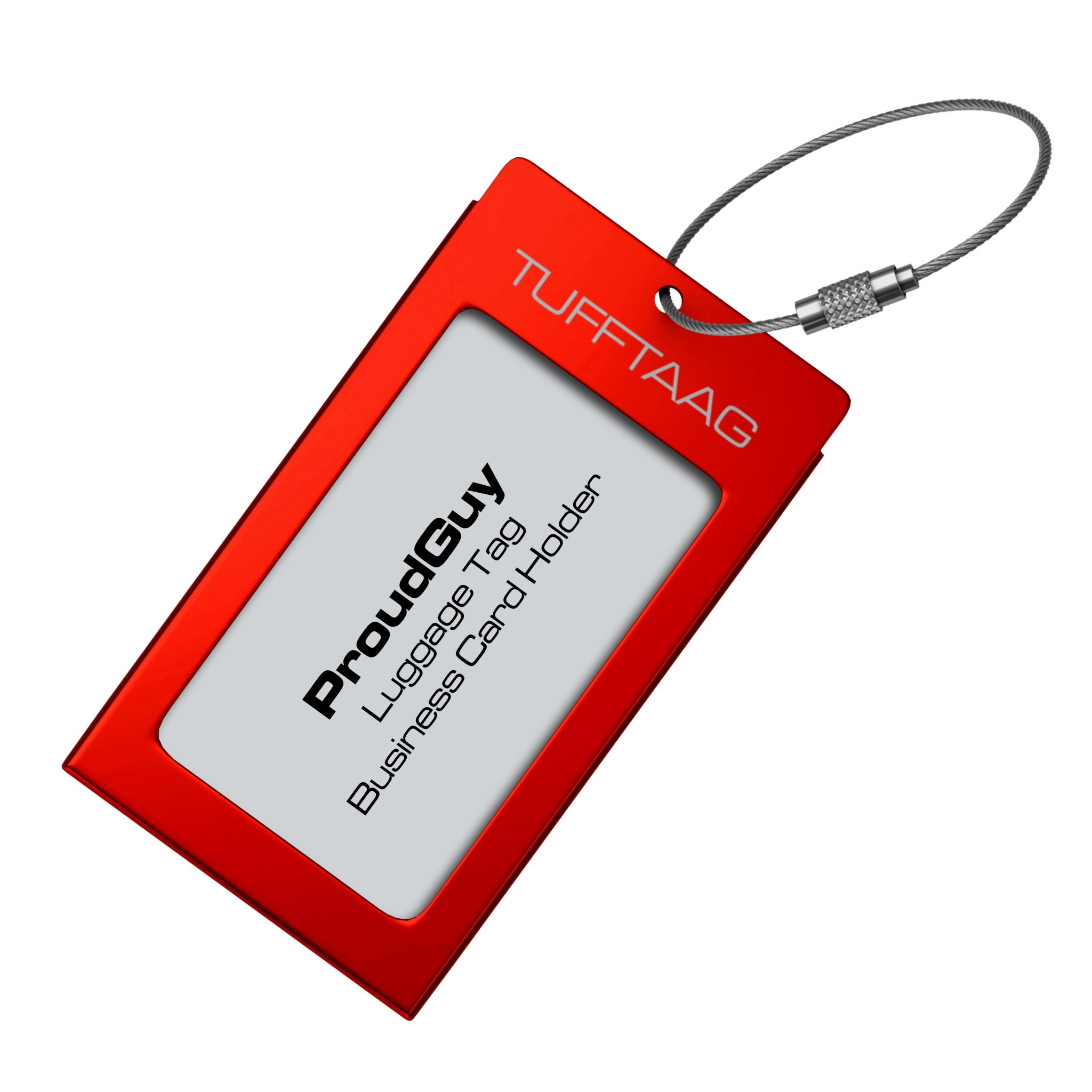 luggage tags business card holder tufftaag travel id bag tag in