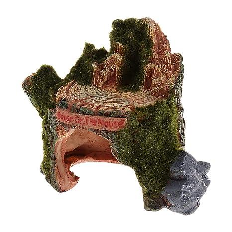 Homyl Adorno de Terrario Acuario Escondite Cueva Pecera Suministros Accesorios - ZR-008