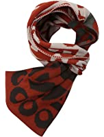 Men Letters Geometric Prints Contrast Color Leisure Knitted Scarf