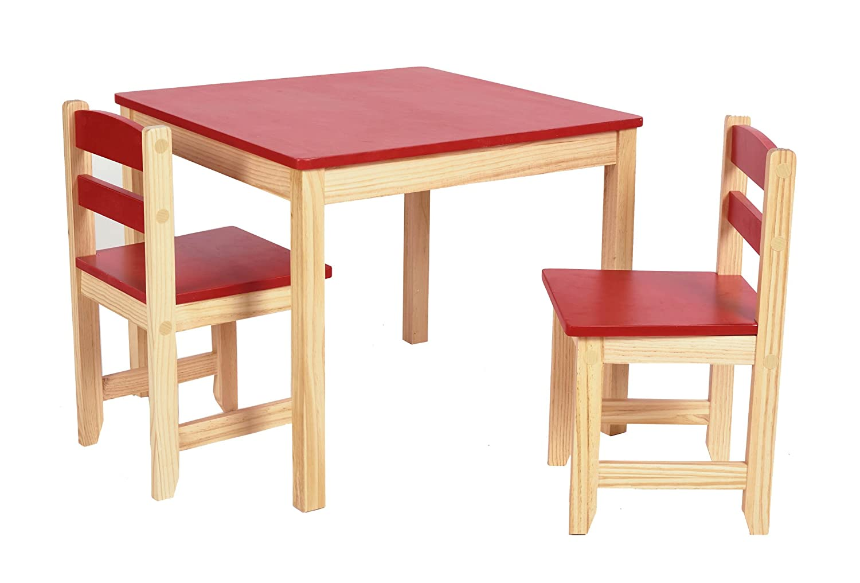 ts-ideen Kinder Sitzgruppe Tisch Stühle Holz Set Kinderzimmer ...