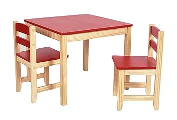 Entzuckend Ts Ideen Kinder Sitzgruppe Tisch Stühle Holz Set Kinderzimmer Spielmöbel  Möbel Rot Sitzecke Kiefernmöbel