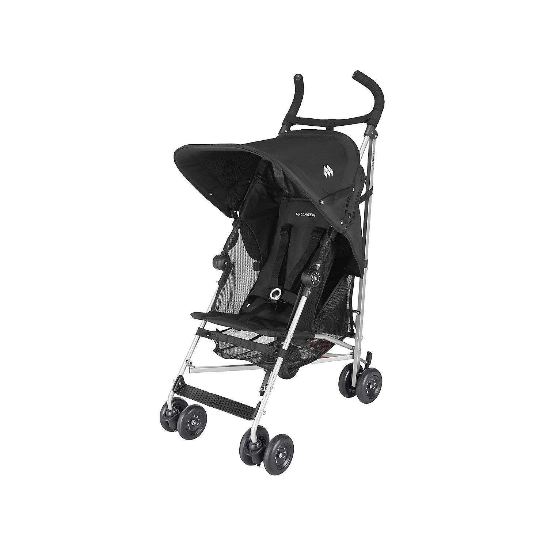 Maclaren Baby Globetrotter Lightweight Reclining Single Stroller Black//White NEW