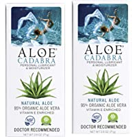 Aloe Cadabra Natural Personal Lube, Organic Best Lubricant Oral Gel for Her, Him & Couples, Unscented, 2.5 oz (Pack of 2…