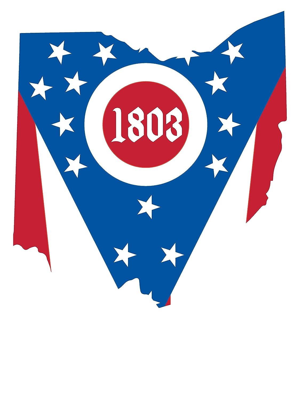 OHIOPRD03 Unisex Long Sleeve Pocket T-Shirt Venley Ohio 1803