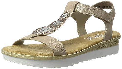 Womens 64263 Closed Toe Sandals, Silber (Silver/Platin 90), 9 UK Rieker
