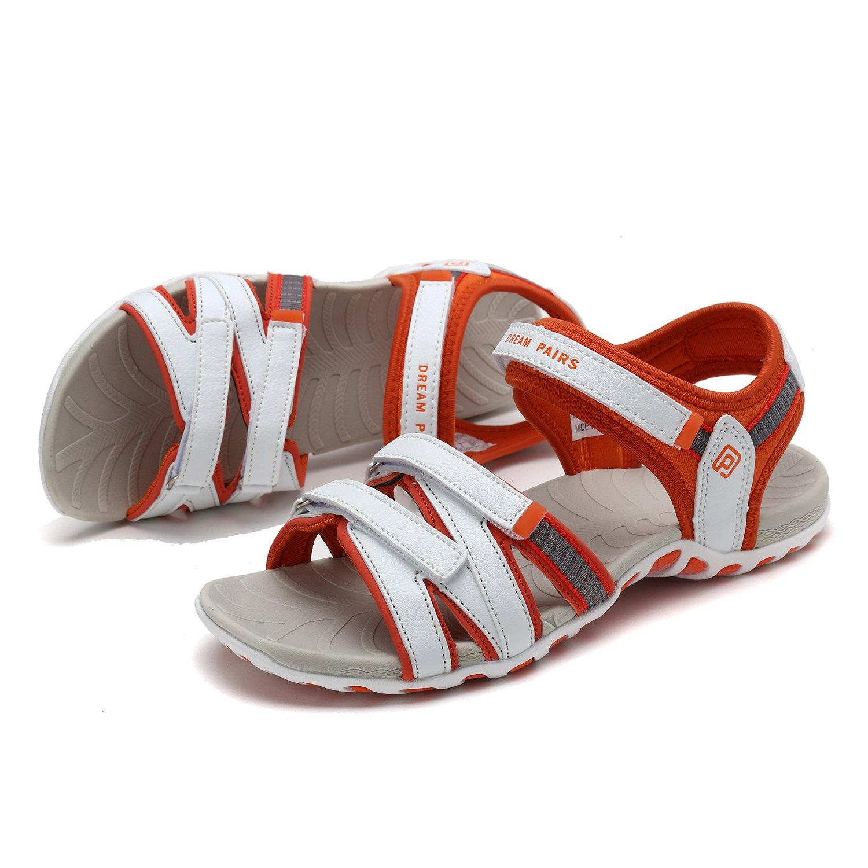DREAM PAIRS Outdoor Women's 160912-W Adventurous Summer Outdoor PAIRS Sandals B0788WVPRS 6.5 M US|White/Orange 2f1c66