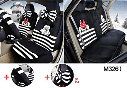 Amazon.com: 1 sets the New Plush Cartoon Car Seat Cover The front ...