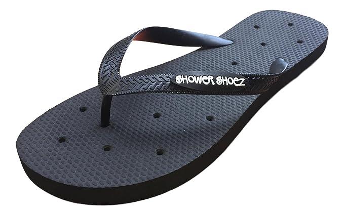 3efdbe890148 Shower Shoez Men s Antimicrobial Non-Slip Pool Dorm Water Sandals Flip Flops  (Medium 8