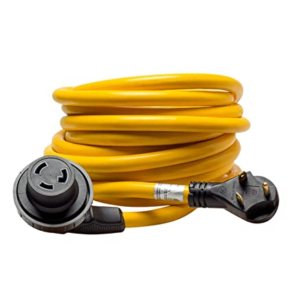 50 Camco 55525 30 Amp Power Grip Extension Cord With 90m 90f Locking Adapter Accessories Supplies Electronics Accessories Supplies