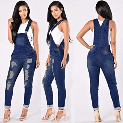 Amazoncom Hemlock Women Jeans Jumpsuit Womens Long Denim Pants