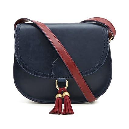 29870fd3e5 ECOSUSI Sac Porté Epaule Rétro pour Femme Sacoche de Selle Sac en  Bandoulière Femme Saddle Bag