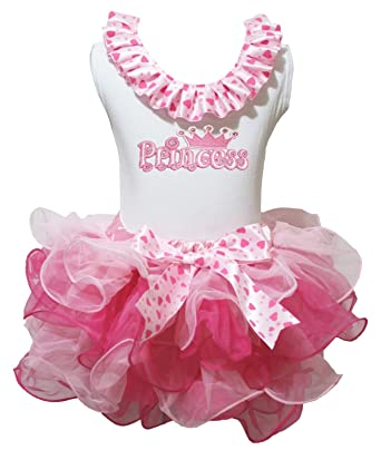 ac04db6973 Valentine Princess Print Top Light Hot Pink Petal Pettiskirt Girl Cloth  Nb-8y: Amazon.co.uk: Clothing