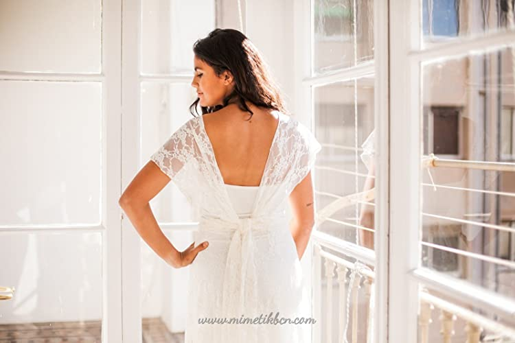 Amazon.com: Wedding dress, Lace wedding dress separates, bride lace gown, marriage, boho wedding lace dresses, long lace dresses, accessory lace dress: ...