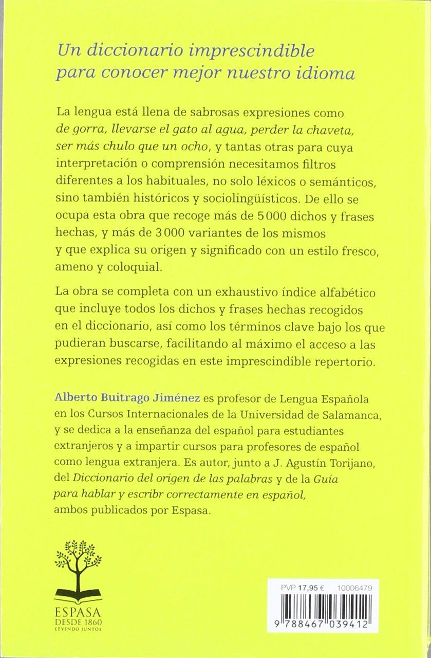 Diccionario De Dichos Y Frases Hechas Amazoncouk Alberto