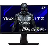 ViewSonic ELITE XG270QG 27 Inch 1ms 1440p 144hz (165Hz OC) GSYNC Gaming Monitor with IPS Nano Color Elite Design Enhancements