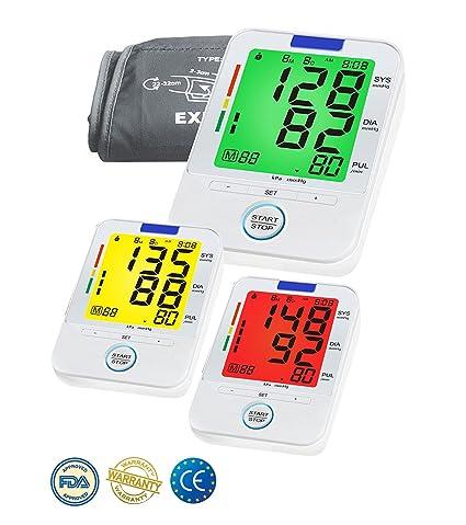 Arterial del brazo monitor de presión- Color lecturas precisas de la presión sanguínea, monitores