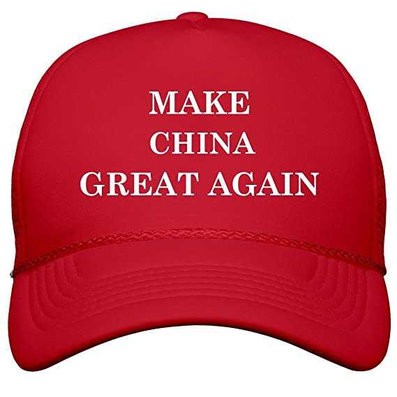 ORG Make China Great Again  Film and Foil Solid Color Snapback Trucker   Clothing dd509e981033