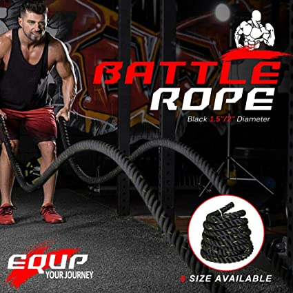 """1.5/""""-2/"""" 30FT Poly Dacron Battle Rope Exercise Strength Training Undulation"""
