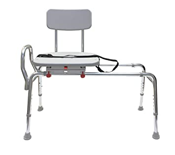 Pleasant Swiveling And Sliding Bathtub Transfer Bench And Shower Chair Reg 77662 Swiveling And Sliding System Multiple Safety Features Tool Less Machost Co Dining Chair Design Ideas Machostcouk
