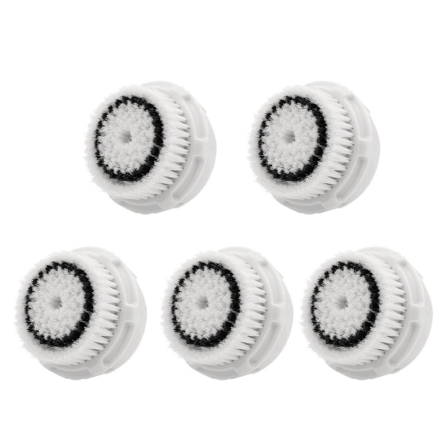 LSQtronics Sensitive Facial Brush Heads for Clarisonic. Face Cleansing Brush Heads for Daily Skin Care. Compatible with Clarisonic MIA, MIA 2, ARIA, PRO and PLUS Cleansing Systems. (5-Pack Sensitive Brush Head)