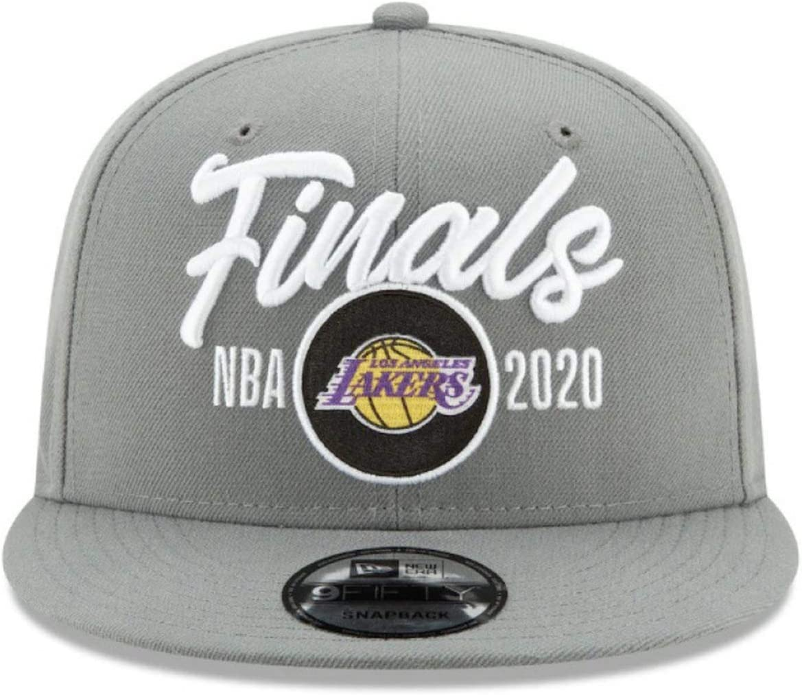 PLZY 2020 Lakers Western Championship Cap Heat Eastern Championship Cap Adjustable Baseball Cap Sports Cap Grey