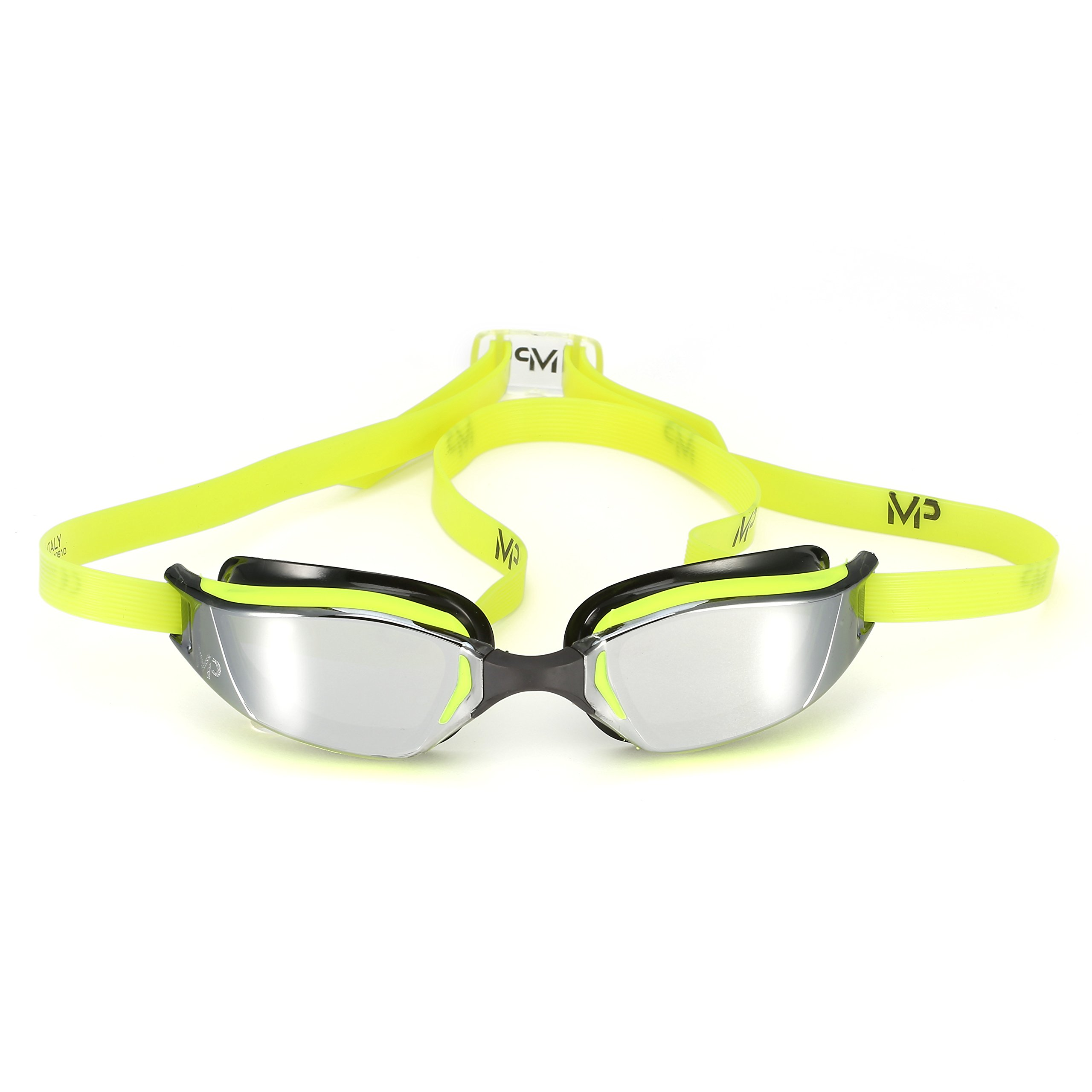 MP Michael Phelps XCEED Swimming Goggles, Mirrored Lens, Yellow/Black Frame by MP Michael Phelps (Image #3)
