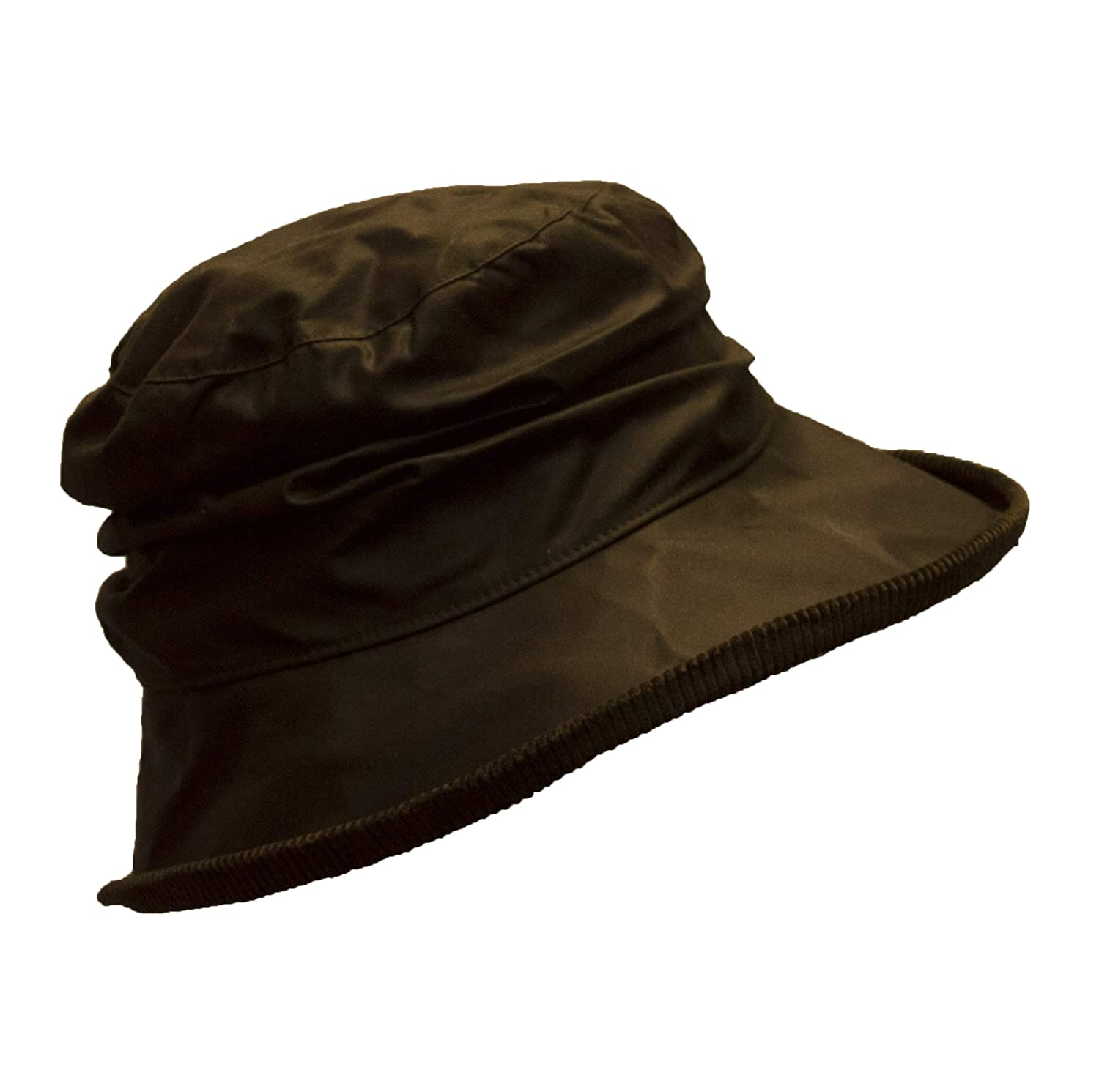Walker & Hawkes - Ladies Wax Diana Country Hat - Olive LDSWXDNAHTOP