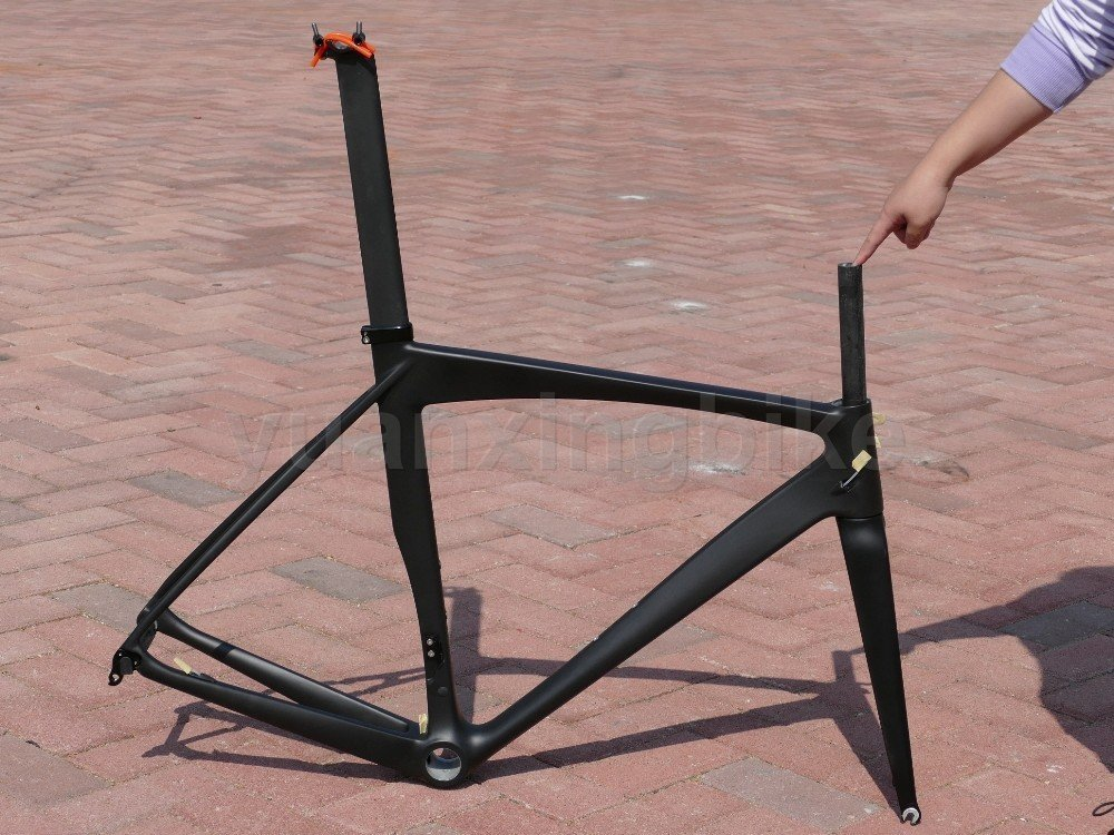 319 #東レカーボンフレームセットフルカーボンUD光沢ロードバイクBSAフレーム50 cmフォークシートポストヘッドセット   B01GHTILLC