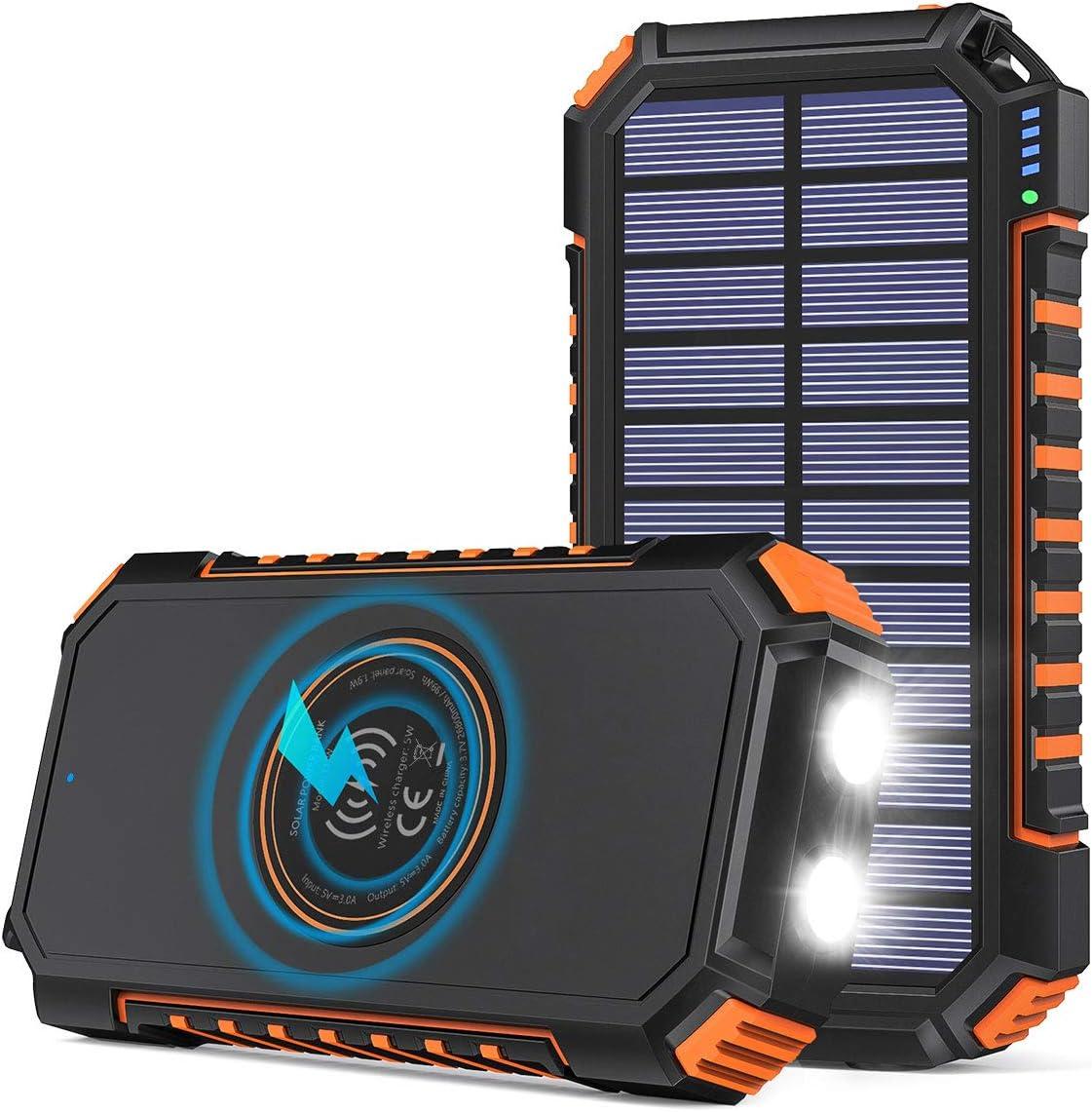 Hiluckey Wireless Solar Powerbank 26800mah Elektronik