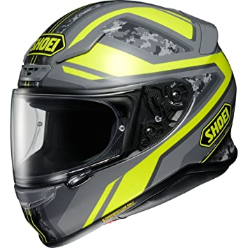 Shoei NXR Parameter Motorcycle Helmet XS Yellow Grey (TC-3)