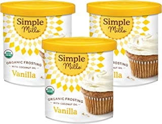 product image for Simple Mills Organic Vanilla Frosting with Coconut Oil, Birthday Cake Frosting, Made with whole foods, 3 Count (Packaging May Vary)
