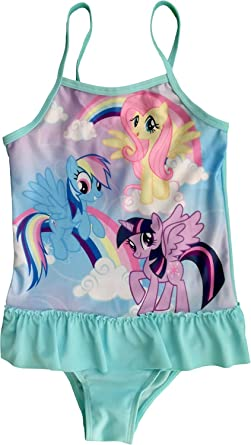 3986257315658 MLP Official Licensed My Little Pony Girls Swimming Costume (3-4 Years,  Blue): Amazon.co.uk: Clothing